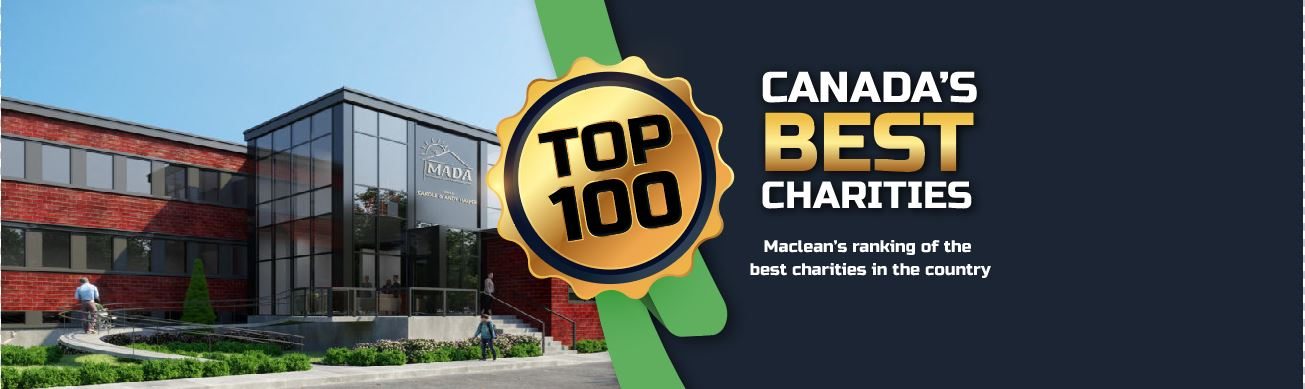 MADA made it to Maclean's top 100 charities!