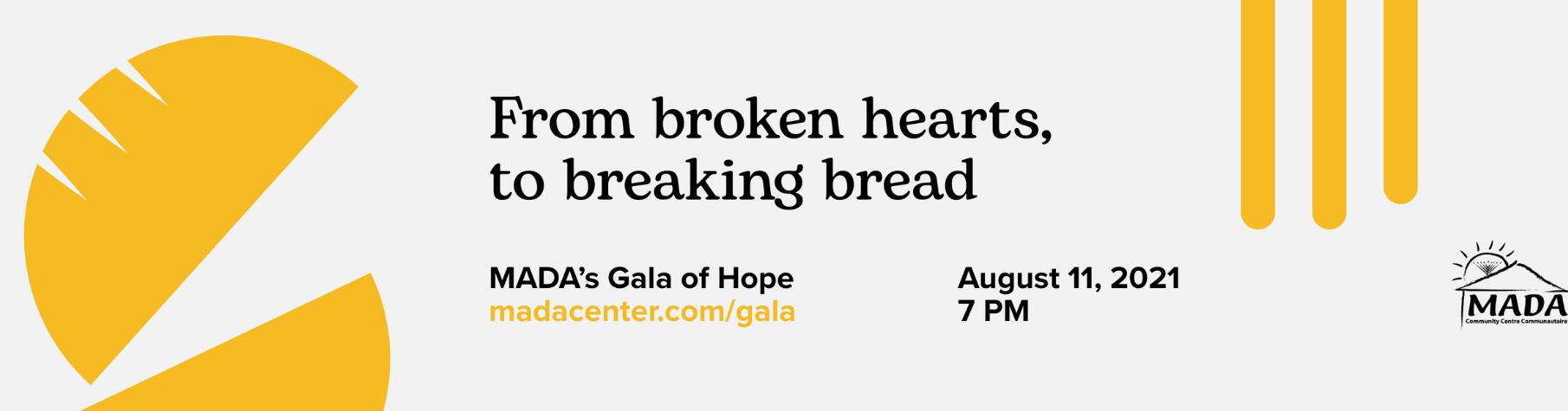 Join us virtually at MADA's Gala of Hope